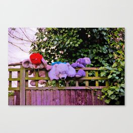 Teddy Bear Escape Canvas Print