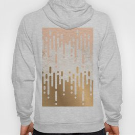Marble and Geometric Diamond Drips, in Gold and Peach Hoody