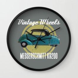 Vintage Wheels - Messerschmitt kr200 Wall Clock