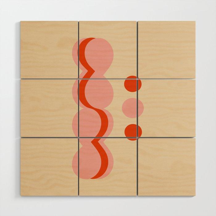 Uende Love - Geometric and bold retro shapes Wood Wall Art