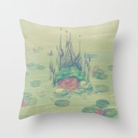 soul eater Throw Pillows featuring eater by michelle borjon