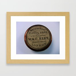Waterproof Pistol Caps W. & C. Eley Manufacturers London Framed Art Print