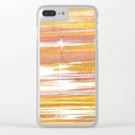 Gold abstract watercolor Clear iPhone Case
