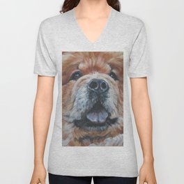 the chow chow dog portrait fine Art Dog Painting from an original painting by L.A.Shepard Unisex V-Neck