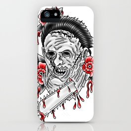 Bloody Leatherface iPhone Case