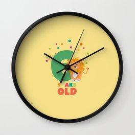 Six Years sixth Birthday Party Lion T-Shirt Dhpbx Wall Clock