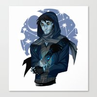 grantaire Canvas Prints featuring MOONLIGHT BENEATH : GRANTAIRE by Cy-lindric