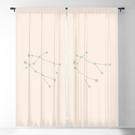 Gemini Zodiac Constellation Sage Blackout Curtain