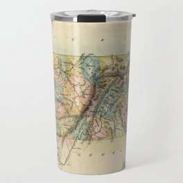 Vintage Map of Tennessee (1822) Travel Mug