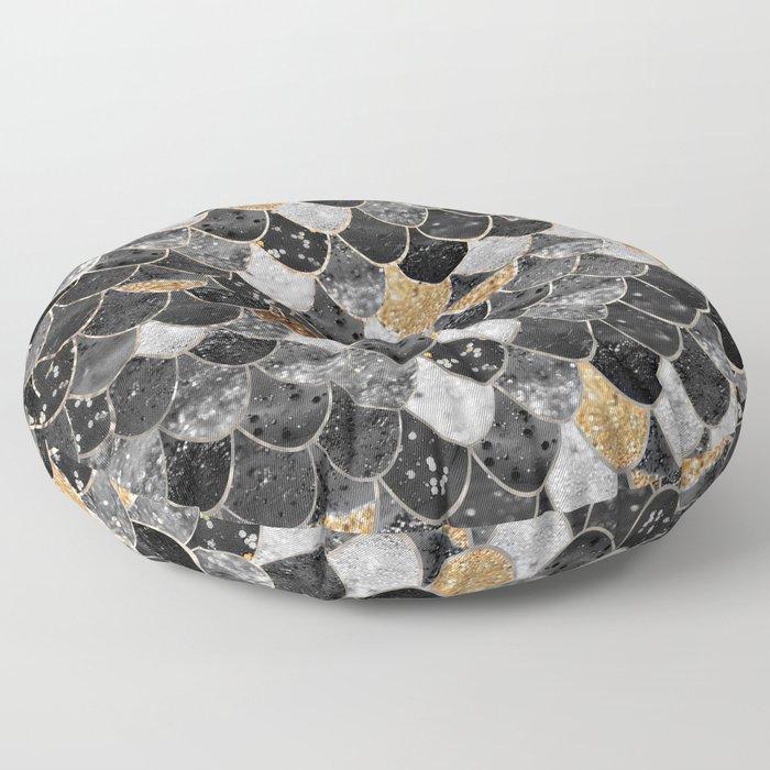 REALLY MERMAID BLACK GOLD Floor Pillow
