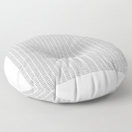 The Number Pi to 10000 digits Floor Pillow