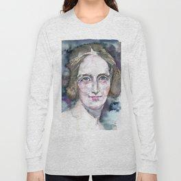 MARY SHELLEY - watercolor portrait Long Sleeve T-shirt