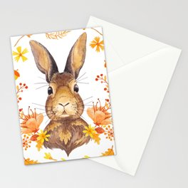 Autumn Rabbit Stationery Cards