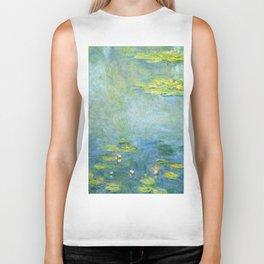 1906-Claude Monet-Waterlilies-73 x 92 Biker Tank