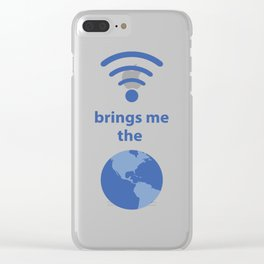 Wifi and the World Clear iPhone Case