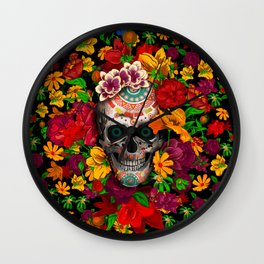 Day of the dead sugar skull flower iPhone 4 4s 5 5c 6, ipod, ipad, pillow case Wall Clock