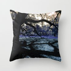 Oak Shadows Lavendar Throw Pillow