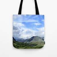 norway Tote Bags featuring Rondane - Norway by AstridJN