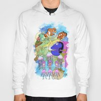 pixar Hoodies featuring Disney Pixar Play Parade - Finding Nemo Unit by Joey Noble