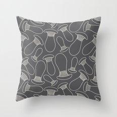 king oyster mushrooms Throw Pillow