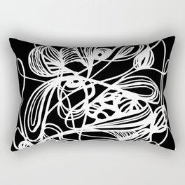 Overgrown Abstract Flower Inverse Rectangular Pillow