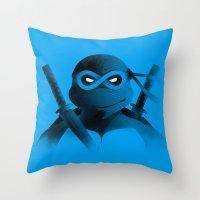 leonardo Throw Pillows featuring Leonardo Forever by Ian Wilding