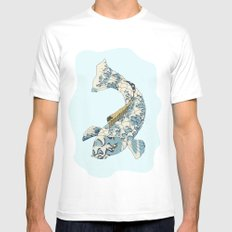 Koi japanese fish number two Mens Fitted Tee White MEDIUM