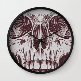Front Skull Wall Clock
