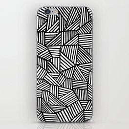 Black Brushstrokes iPhone Skin