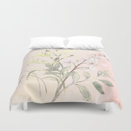 Floral collection in pastels Duvet Cover