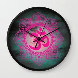 Full Moon Om Wall Clock