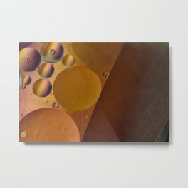 Pearl colored circles. Metal Print