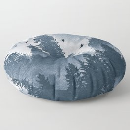 Amazing Forest Morning Nature Photography Floor Pillow