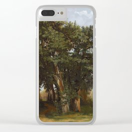 Alexandre Calame 1810 - 1864   GROUP OF OAK TREES Clear iPhone Case