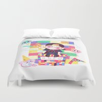 shinee Duvet Covers featuring Downtown Baby SHINee by sophillustration