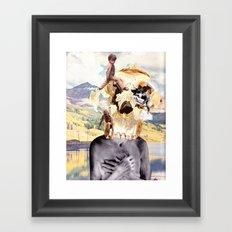 About-face Framed Art Print