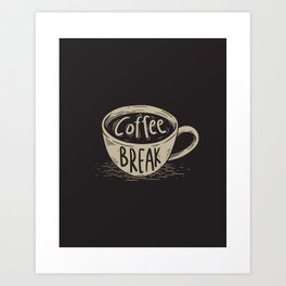 Coffee Break Painting Artwork Art Print