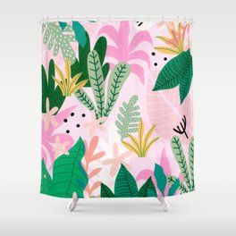 Into the jungle - sunup Shower Curtain