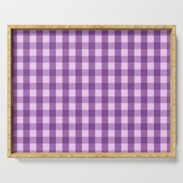 Classic Gingham Pattern Purple Serving Tray