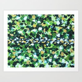 Colorful Green Abstract Painting Art Print