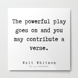 36 | Walt Whitman Quotes | 190803 Metal Print