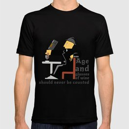 Age and glasses of Wine T-shirt