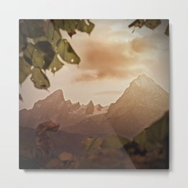Framed by foliage Metal Print