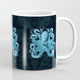 Octopus1 (Blue, Square) Coffee Mug