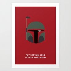 Star Wars Minimalism - Boba Fett Art Print