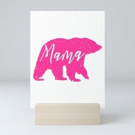 Pink Mama Bear Mini Art Print