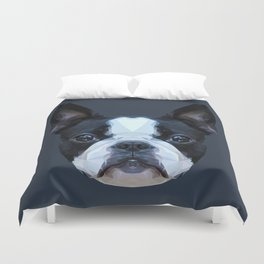 Frenchie / Boston Terrier // Navy Duvet Cover