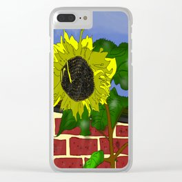 Thee Sunflower by Mgyver Clear iPhone Case