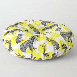 half animals pattern Floor Pillow
