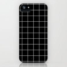 Black White Grid Slim Case iPhone SE